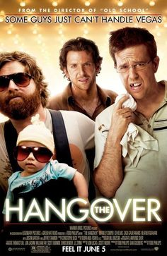 The Hangover -- After a blow-out bachelor party, three groomsmen wake in their Las Vegas hotel room to find the groom is missing and they can't remember a thing about what they did the night before.♥♥♥