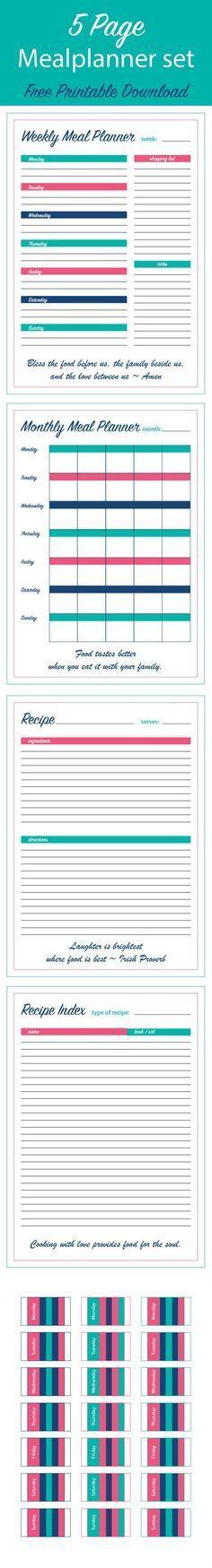 Free Printable Weekly Meal Planner - Time Management Tip Menu - menu planner template free
