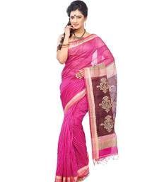 Buy Designer pink hand_woven silk saree hand-woven-saree online