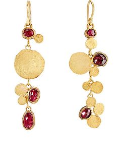 We Adore: The Triple-Drop Cluster Earrings from Judy Geib at Barneys New York