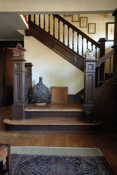 Image result for staircases in early 20th century homes