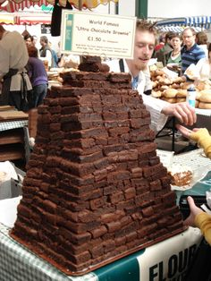 Borough Market mountain of brownies are worth every penny