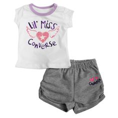 f793d8910f1f Converse Lil Miss T-Shirt and Shorts Set. A A Sports · Converse Kids  Clothing