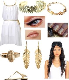 """""""Greek goddess (Halloween party with Harry)"""" by milinda-guerra ❤ liked on Polyvore"""