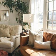 Home Living Room, Apartment Living, Living Room Designs, Living Room Decor, Living Spaces, Interior Exterior, Home Interior, Interior Design, Living Room Inspiration