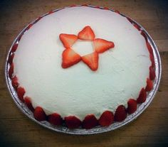 Tres leche cake with strawberries