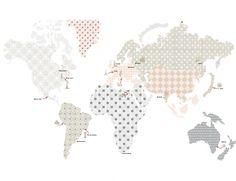 Naklejka ścienna Mapa 1 Dekornik