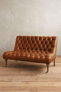 Leather Orianna Settee - anthropologie.com