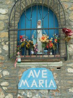 A shrine along the roadside near Pievescola Tuscany