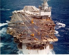 USS Enterprise CVAN 65 during the fire occurred on January 14, 1969