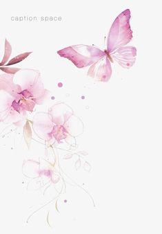 Pintado a mano de mariposa,Mariposa de colores,Gouache mariposa,Watercolor Flowers,Flores
