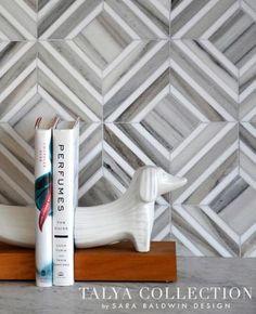 Yildiz stone waterjet mosaic in Palisandra veincut and Snow White | Talya Collection | Sara Baldwin of New Ravenna | Marble Systems