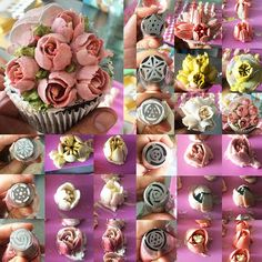 Mini flowers using Russian tip from @sukasaribakingsupplies  Please do give credit when youre reposting! Thanksssz