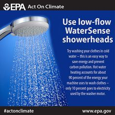 Shower better to save 2,900 gallons of water annually and #ActOnClimate.