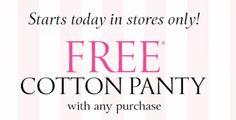 Victoria Secret: GRATIS Panty con cualquier compra! Revisen su email!