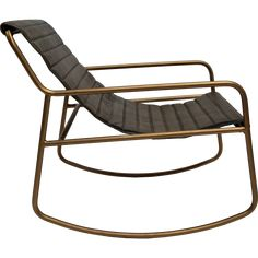 Lounge rocking chair Outdoor Chairs, Outdoor Furniture, Outdoor Decor, Lounge, Messing, Green Leather, Rocking Chair, Vintage, Home Decor