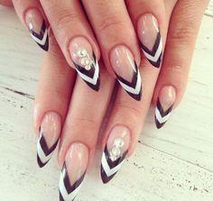 50 black and white nail art