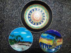 Pratos de vidro  Decorativos