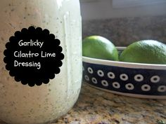 Garlicky #Cilantro #Lime #Dressing -- delicious dressing #recipe for salads, dip, eggs, or wraps!