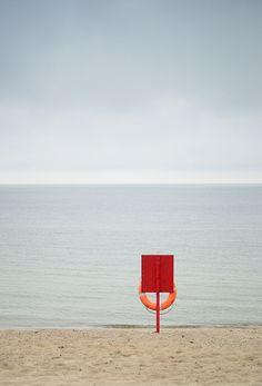 Naklejka Opuszczona plaża na długiej wyspie, Nowy Jork, w