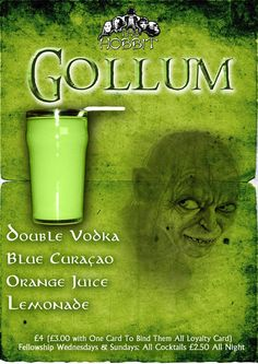 Gollum Cocktail Don't forget to come and see us at http://bakedcomfortfood.com!