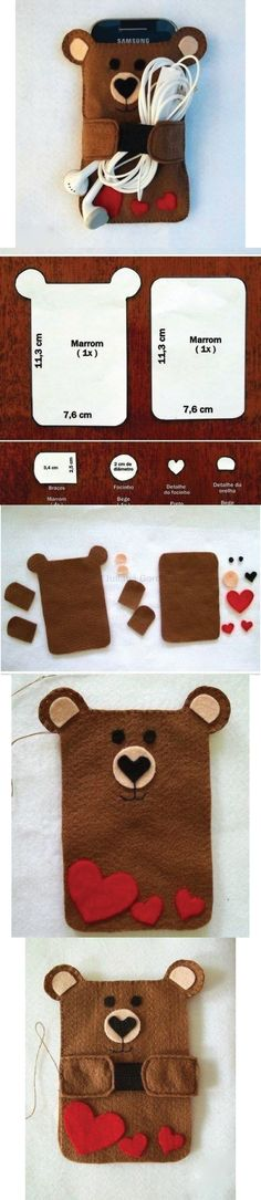 New diy phone case felt crafts ideas Felt Diy, Felt Crafts, Fabric Crafts, Sewing Crafts, Sewing Projects, Craft Projects, Hobbies And Crafts, Diy And Crafts, Felt Phone