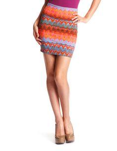 ZigZag Tribal Cotton Skirt - Charlotte Russe