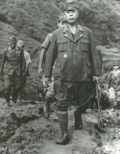 General Yamashita, known as the 'Tiger of Malaya', and his staff surrendering to US forces in northern Luzon.