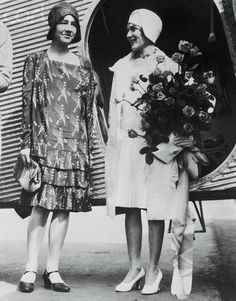 Portrait of Anne Lindbergh and Mary Pickford. Pickford Christened the first TAT plane. Interesting Photos, Cool Photos, Royalty Free Images, Royalty Free Stock Photos, Anne Morrow Lindbergh, Mary Pickford, Photo Library, Amelia, Christening