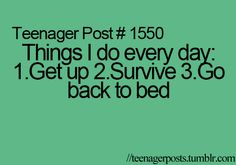 Teenager Posts ......... pretty much