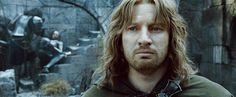 AT THIS POINT, FARAMIR IS LEADING THE BATTLE AT OSGILIOTH WHERE THE ARMIES OF MORDOR ARE ATTACKING GONDOR. HE IS LOVED BY HIS MEN, BUT THEY ARE HOPELESSLY OUTNUMBERED. WHEN HE RETREATS, HIS FATHER IS HIGHLY CRITICAL, WISHING IT HAD BEEN FARAMIR THAT WAS LOST IN BATTLE, IN THE  PLACE OF BOROMIR.