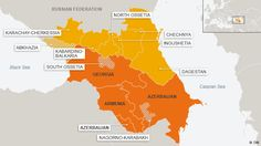 Map of Abkhazia South Ossetia Armenia and Azerbaijan Also
