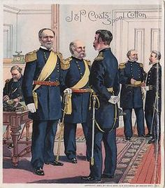 JP Coats Thread Trade Card Uniform of The Army 1872 1880 General Sherman | eBay