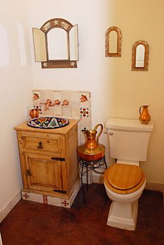 Essentials For A Spanish-Style Bathroom – House Remodel HQ Spanish Bathroom, Spanish Style Bathrooms, Rustic Chic Bathrooms, Bathroom Modern, Small Bathroom, Shabby Chic Shower Curtain, Shower Curtains, Monolithic Dome Homes, Mexican Style Kitchens