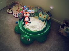 Turtle sandbox makeover. Clever ! (from There's No Place Like Home ...
