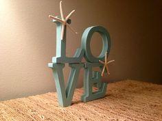 Love - Wood Letters- Beach Decor - Starfish on Etsy, $20.00