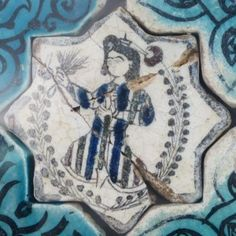 Turkish Seljuk Figural Design Tile From Konya Karatay Medrese(School). The Turkish Seljuk tiles now displayed at the Karatay Medrese in Konya originally decorated the walls of the century Kubadabad Palace on the shores of Lake Beyşehir. Grey Carpet, Modern Carpet, Painting Carpet, Antique Tiles, Turkish Art, Living Room Carpet, Carpet Design, Carpet Runner, Mosaic Art