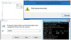 USB Bellek Yazma Koruma Hatası ve Çözümü