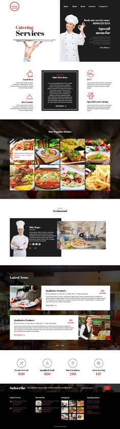 Catering - Chef and Food Restaurant Template | Chef Portfolio #catering service #catering website template #chef • Download ➝ https://themeforest.net/item/catering-chef-and-food-restaurant-template-chef-portfolio/16163028?ref=pxcr