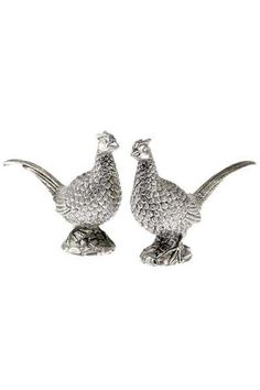 Orchid Pewter Pheasant Salt & Pepper Set Brocklehursts