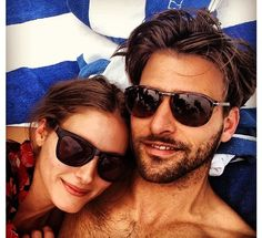 Olivia Palermo with Johannes Huebl In Miami Beach