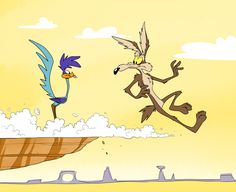 "Wile E. Coyote and Road Runner from ""Looney Tunes"", 1930-"