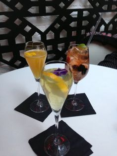 Our lovely cocktail selection - thanks to Paola for a fab pic on Yelp!