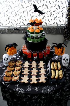 Halloween Party food table Ideas #halloween #party #parties #food #foods #recipe #recipes #ghouls #cool #fun #great #kids #ideas #halloweentables