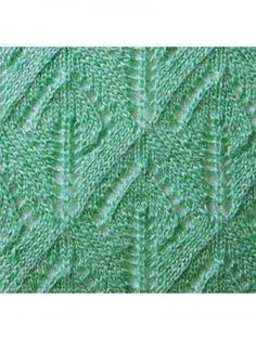 """Вязаный узор """"Райские листья"""" : http://www.shpulya.com/uzory/uzor-raiskie-listja.html"""