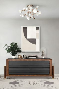 A very inconspicuous piece of modern design that works as a discreetly stylish storage solution, Brando Sideboard by Essential Home features a structure in solid wood and natural dark leather that gives it a sober and elegant look.