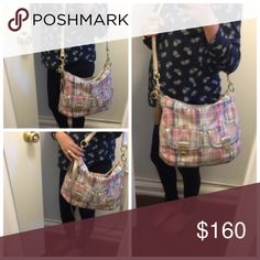 Coach Large Crossbody Multipocket/Multicolor Has removable crossbody strap. Light wear outside. Zips on top. Has 2 coach hangtag. Authentic Coach. Coach Bags Crossbody Bags