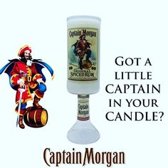 Got a little #captain in your #candle? #order your own #captainmorgan candle at our #etsyshop choose from over 20 #scents #etsylove #etsysellersofinstagram #etsylife #liquor #rum #spicedrum #candlelove #candlemaker #candlemaking