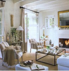 Sophisticated and airy living room.    from dailycrushes