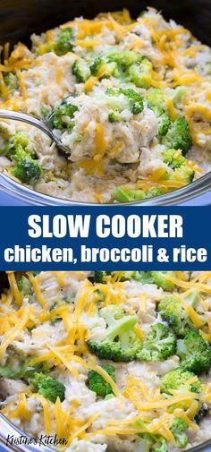 Crock Pot Recipes 98559 Easy Slow Cooker Chicken, Broccoli and Rice Casserole with cheese! Cheesy and creamy and made in the crock pot with healthy ingredients! One of our favorite easy recipes to make ahead, add this one to your list of crockpot meals! Healthy Slow Cooker, Slow Cooker Recipes, Healthy Meals Crockpot, Healthy Crock Pots, Crockpot Ideas, Healthy One Pot Meals, Healthy Eating, Beef Recipes, Crock Pot Slow Cooker